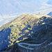 Blick vom Abstieg auf die Alpe Foppa, links der Weg, de ich eingeschlagen habe