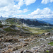 Blick von Forcletta ins Val d`Anniviers. Pointe de Nava, Tsa du Touno