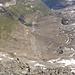"""Der Hinterrhein. Die Vegetation zeichnet noch gut den Gletscherstand zur """"kleinen Eiszeit"""" nach."""