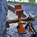 Schöne Rekonstruktion des Wasserrades mit dem Merkhammer