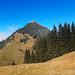 der pyramidenförmige Güpfi mit seiner südseitigen Gipfelflanke