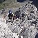 aus der Nordflanke wird zum Gipfelgrat angestiegen