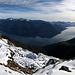 Panorama from Pizzo Leone towards Lago Maggiore