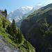 Auf dem Wanderweg von der Griesalp zur Gspaltenhornhütte, Morgenhorn und Wildi Frau