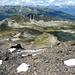 Blick in die Abstiegsroute der Westflanke.