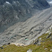 Auflösungserscheinungen der Zunge des Oberaletschgletschers, über die wir in zwei Tagen absteigen werden