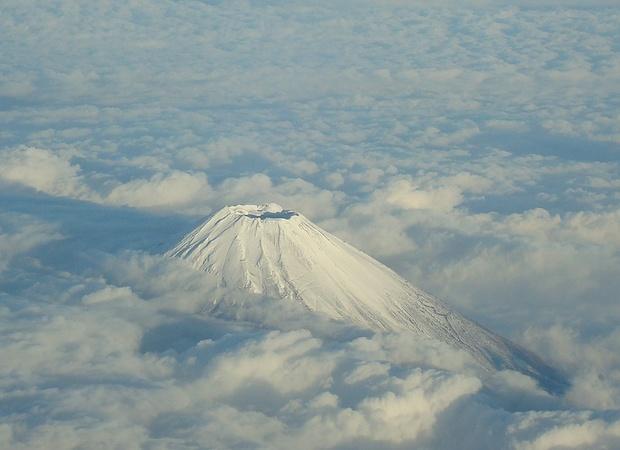 5 Tage später, bein Flug von Tokyo nach Osaka, nach ergiebigen Schneefällen. Wow.