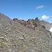 Blick von meinem Abstieg auf den Gipfelgrat ;)