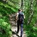 Lungo il sentiero sul versante orografico destro del Troggia