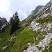 Sentiero degli Scopelli che scende all' alpe Loccia