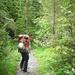 Durch anfangs dichten Wald führt der Weg.