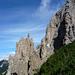 Filigrane Felsformationen im Aufstieg zum Gamsgrat