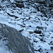 Felsen mit Schnee auf dem WSW-Grat