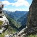 Blick durch die Scharte ins Val Redòrta