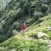 Lisbeth im Aufstieg zur Capanna Campo Tencia
