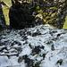 Westzustieg Abgelöste Gauschla mit Schnee