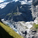 erster Blick zum Grossen Grindelwaldgletscher