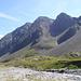 Großer und Kleiner Trögler von der Dresdner Hütte <br /><br />der triviale Aufstieg zum Großen Trögler ist ersichtlich