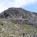 Gipfelaufbau des Großen Tröglers<br /><br />bestiegen wird der rechts im Bild zu sehende Schutthang