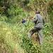 """Le chemin à emprunter pour monter au Muhabura n'a rien à voir avec """"l'autoroute"""" du Kilimanjaro ou le chemin super large du Bisoke! Là on va à travers brousse et ça pique... plus loin il n y aura même plus de chemin..."""
