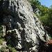Sektor A, weitere Routen gibt es oberhalb dieses Felsens