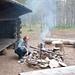 Bei der Jäkälämutka Laavu (Bivakstelle), die immer von Feuerstellen versehen sind