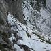 Im Abstieg waren diese Drahtseile heute keineswegs unnötig