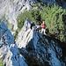 In leichter Kletterei zum Girehore... das muss fotografiert sein.