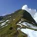 Ein letzter Blick zurück zum Gipfel mit dem steilen Ostgrat.