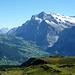 Den östlichen Talschluss oberhalb von Grindelwald dominiert das Wetterhorn.