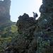 Ab dem Biwak 2330m ist der Aufstieg durchgehend recht anspruchsvoll und braucht ab und zu die Hände. Kraxelgelände