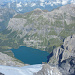 Firnflanke des Fründenhorn mit Oeschinensee weit unten