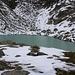 Der namenlose Bergsee auf 2530m wo ich mein Biwak einrichtete.