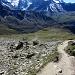 Dent Blanche (4357 m) und Grand Cournier (3962 m) vom Aufstiegsweg