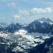 Das Panorama beherrscht der Hohe Riffler (rechts). In der Ferne der Kaunergrat mit (v.l.n.r.) Verpeilspitze, Watzespitze und Rostizkogel.