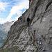 Les passages exposés du sentier de la Fründenhütte sont très bien sécurisés