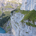 Die Fründenschnur, ein schmales und ausgesetztes Band durch die Felswand