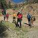 Pronti per l'escursione: da sx Edgar, Chiara, Ludovico, Fausto, Marco e Catia