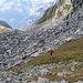 Geröllfeld beim Aufstieg zur Btt. Foglia 2419m