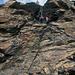 Ausstieg auf Grat bei 3150m
