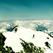 Am Gipfelgrat des Allalinhorn