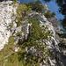 Fels beim Zustieg über den Kamin