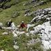 Im Aufstieg zum Hauptgipfel der Widderalpstöck - es ist noch viel steiler, als es hier den Eindruck macht...