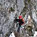 Im ersten Klettersteig