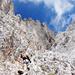 Einstieg zum zweiten Klettersteig