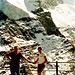 Karl (rechts) an der Schwaigerhütte, oben Vorderer Bratschenkopf c Brandy
