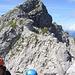 Rückblick auf den Abstieg vom Westlichen Wengenkopfs