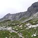 Ausschnitt des Gratverlaufs des Hindelanger Klettersteigs