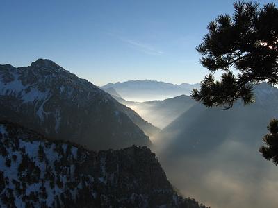 Vom Goppasattel: Saminatal, Pizolberge