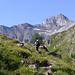 Aufstieg zum Rossboden - hinten wieder Piz Tschütta